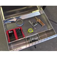 Parts tray for standard truck box