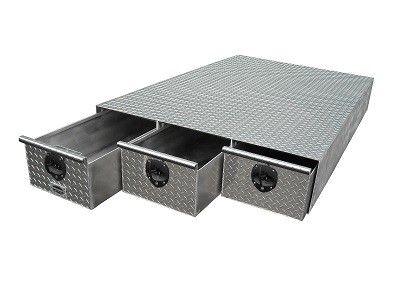 sliding truck bed tool box