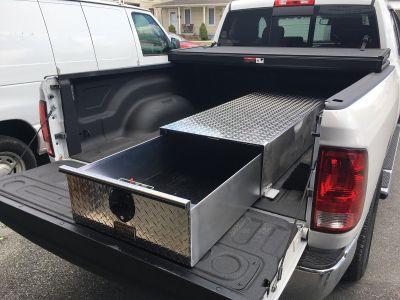sliding truck bed storage