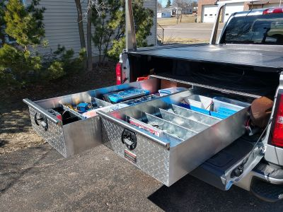 sliding truck bed tool box