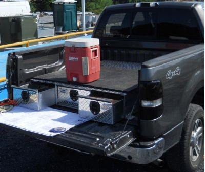 bed tool box with drawers