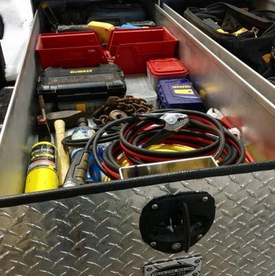 truck bed sliding tool box
